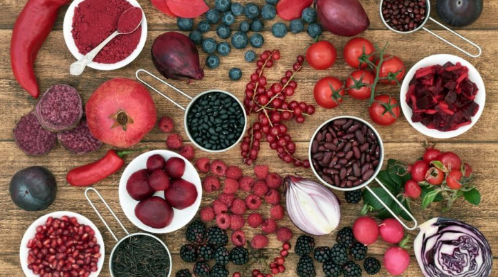 ผักและผลไม้สีแดง
